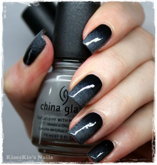 Https Www Pinterest Myfashionintere Grey Black Ombre Nails