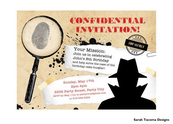 A DIY Top Secret Surprise Party Invite Love the idea – Top Secret Party Invitations