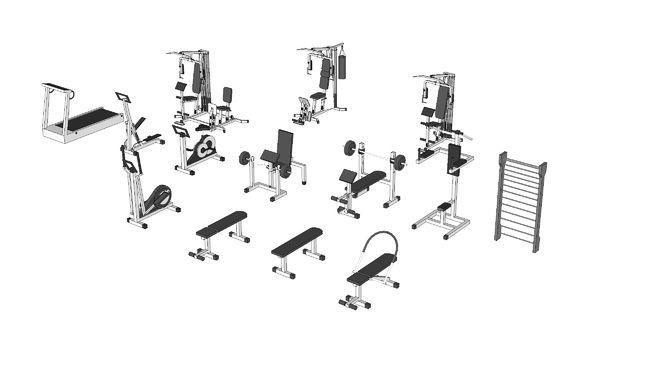 Academia Equipamentos 3d Warehouse In 2019 Sketchup Model