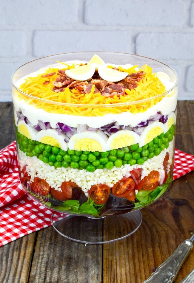 7 Layer Salad Recipe With Video Recipe Layered Salad Layered Salad Recipes Seven Layer Salad