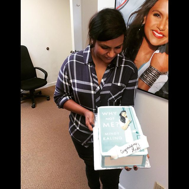 A #Whynotme cake from Crown! Thank you! I love eating things that bear my countenance. by mindykaling