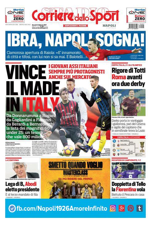 CorrieredelloSport Prima Pagina Ediz. Campania LIKE FOR