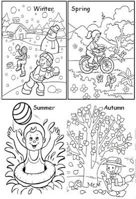 Seasons Of The Year Atividades De Estacoes Aulas De Ingles Para