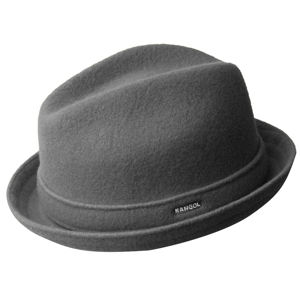 Mens Classic Kangol Wool Player Trilby Fedora Color  White