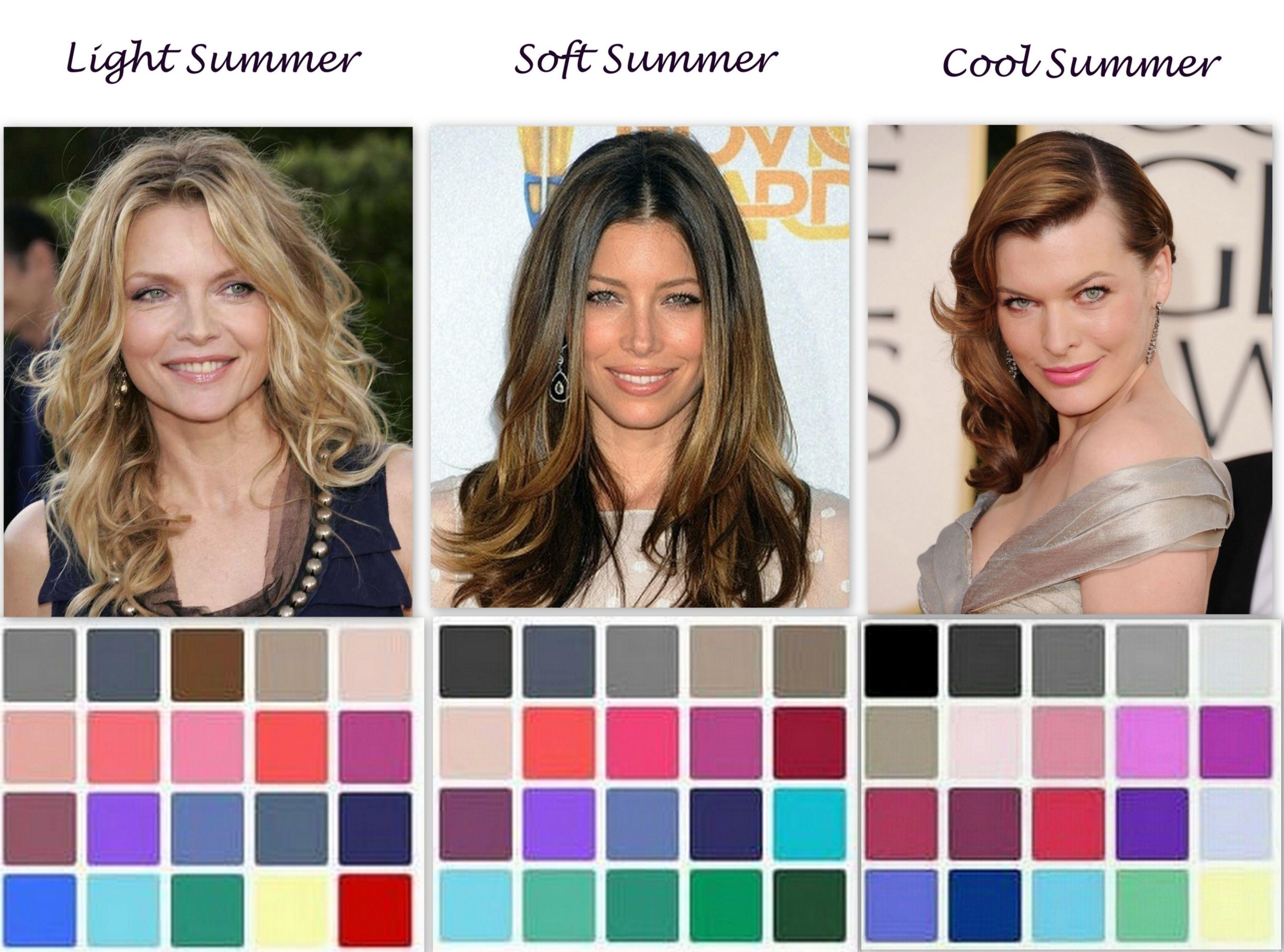 нижней части какие цвета подходят цветотипу лето фото главное этим