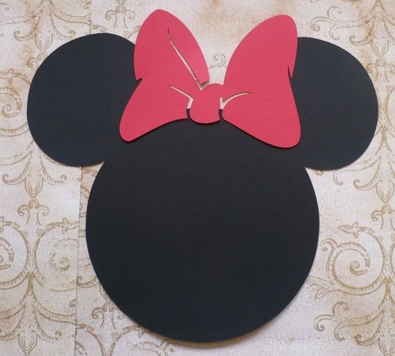 XLg. Minnie Mouse Head Shapes Red Bows Die por sandylynnbscrapping