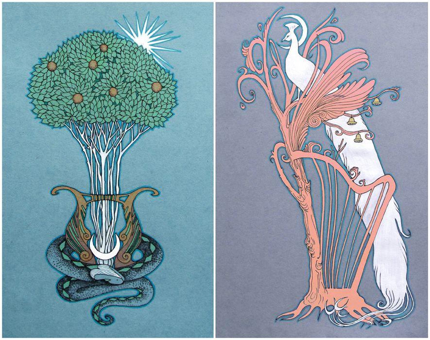 Musical Trees by yanadhyana.deviantart.com on @DeviantArt
