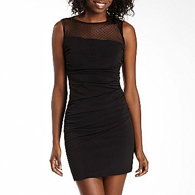 Ruby Rox Illusion Body Con Dress Jcpenney Juniors Formal