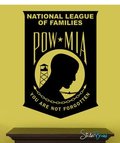 Vinyl Wall Decal Sticker POW MIA Military Wall Decor 317 Wall