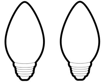 Superior Need Bigger Sized Christmas Light Bulbs? These Can Be Used For A Number Of  Things   Bulletin Boards, Projects, Writing Templates, Etc. Idea