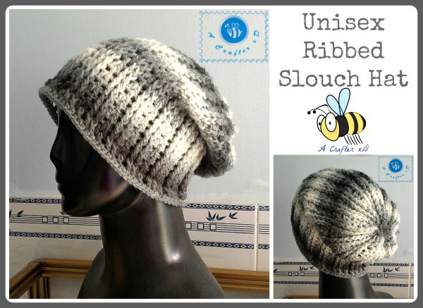 Free Crochet Pattern For A Unisex Ribbed Slouch Hat By Maz Kwoks