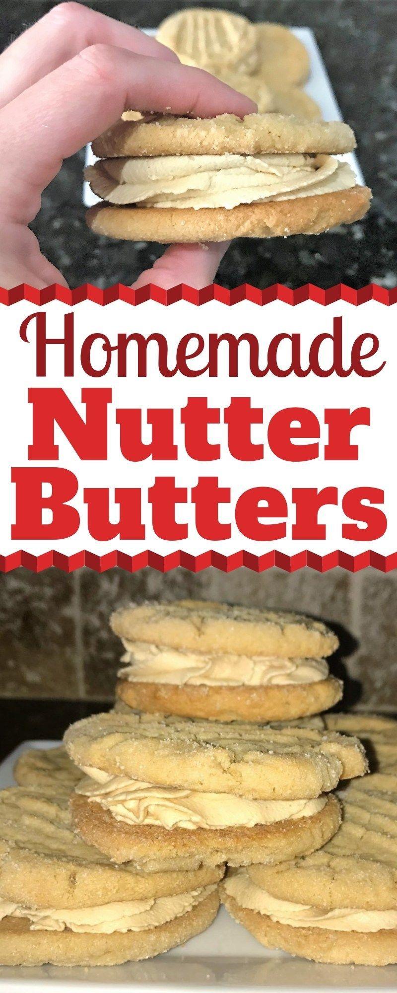 The Best Peanut Butter Sandwich Cookies - Homemade Nutter Butter   Grace Like Rain Blog #peanutbuttersquares