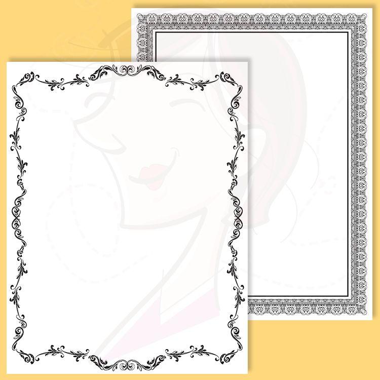 8x11 Certificate Border Frames VECTOR Clip Art Vintage Diplomas ...