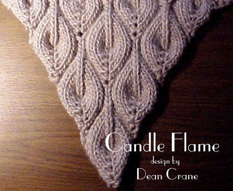 Candle Flame Scarf. free pattern | lynn | Pinterest | Schals