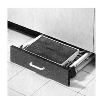 Folding Step Stool In The Toekick Of Cabinet Step Stool