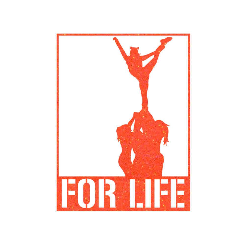 FOR LIFE Cheer Stunt Iron On Decal by GirlsLoveGlitter on Etsy