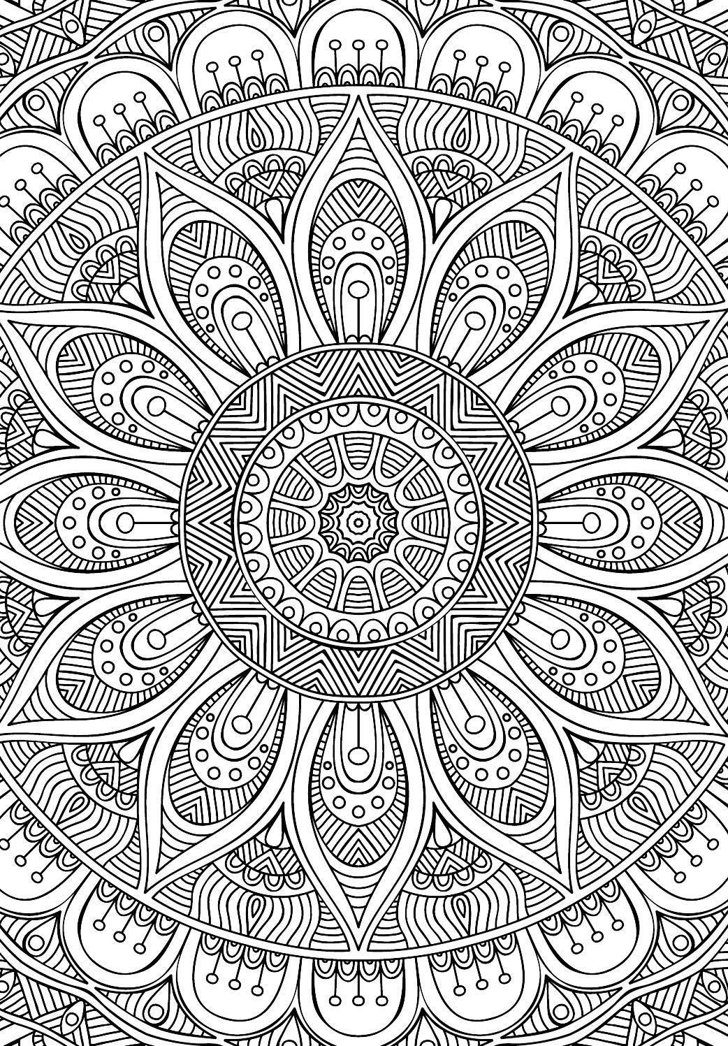 Didzioji mandalu knyga | Mandalas, Colorear y Mandala para colorear