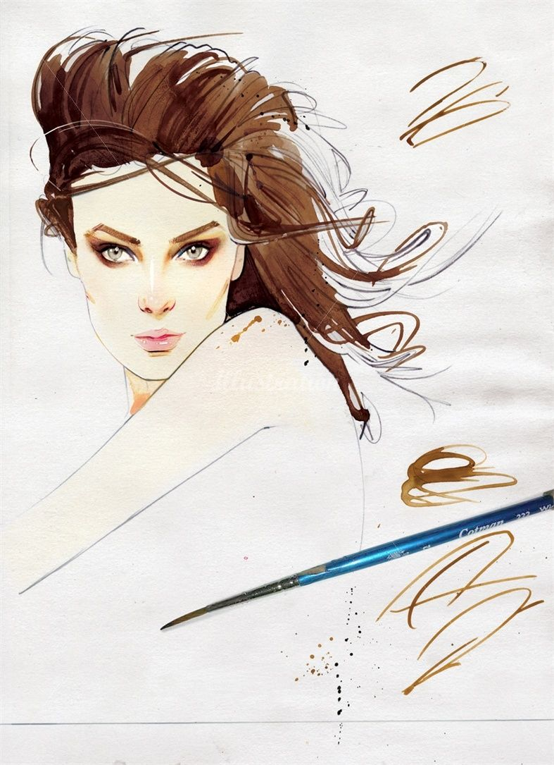 Woman beauty illustration by Nuno DaCosta