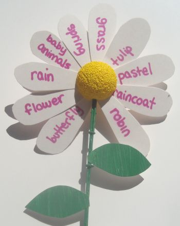 004 Spring Words Vocabulary activities, Spring words, Spring