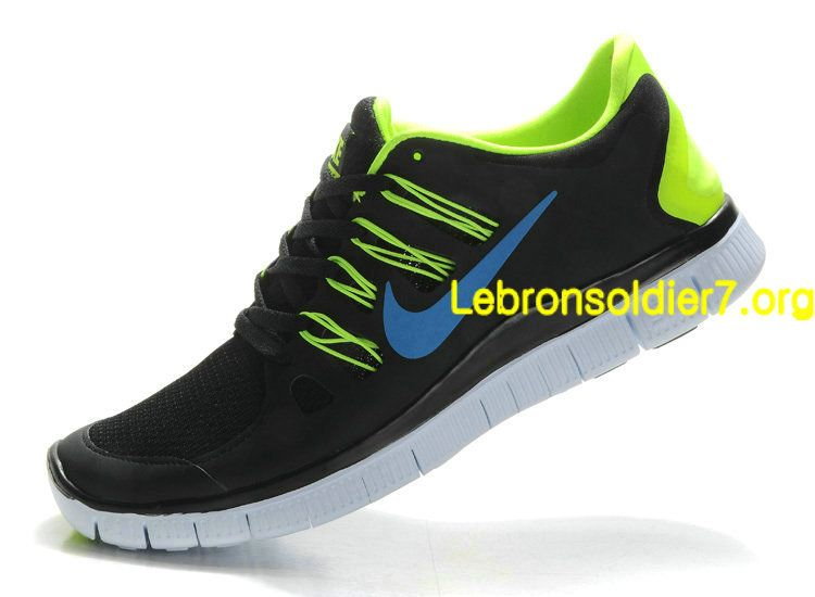 Running shoes · Nike Free 5.0+ Anthracite Hyper blue Lime Green Volt