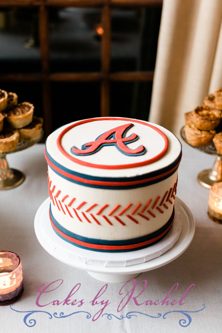 Atlanta Braves Baseball Groom S Cake In 2020 Baseball Grooms Cake Dad Birthday Cakes Grooms Cake