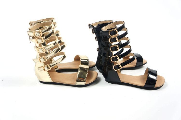 d242ba86da33 Click to Buy    New Fashion Infant Toddler Kid Children Gladiator Sandals  Black Golden Baby Girl Summer Boots 1-4Year Sapatos Infantil Free Ship   Affiliate.
