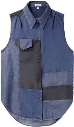 Acne Studios / Prima Patch Sleeveless Button-Up at ShopStyle