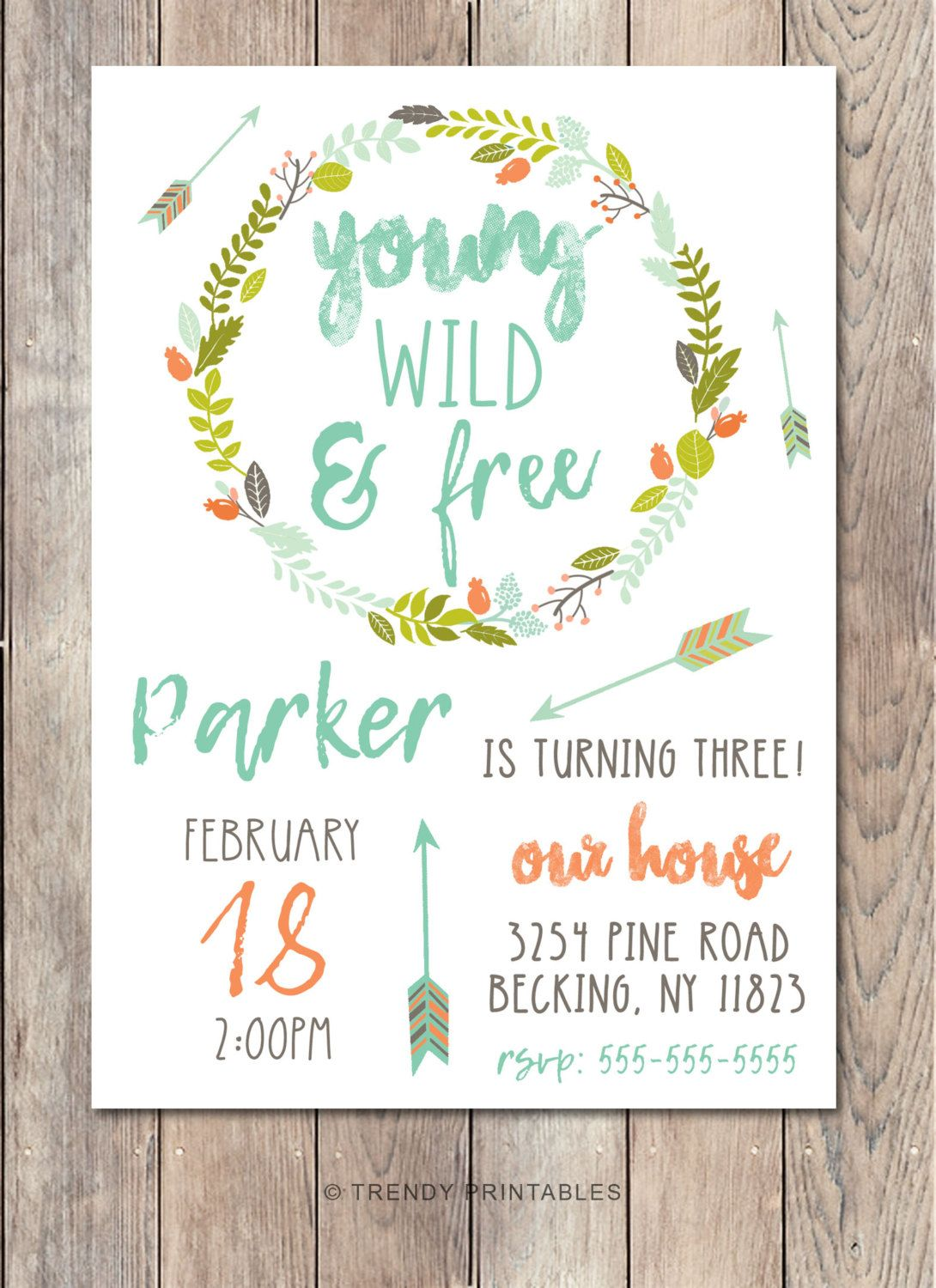 boho birthday party invitation vintage birthday party invite