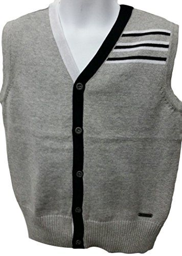 BOY'S SWEATER VEST 100% COTTON KNITED 2320 * Find out more details @   Sweater vest, Boys sweaters, Knited