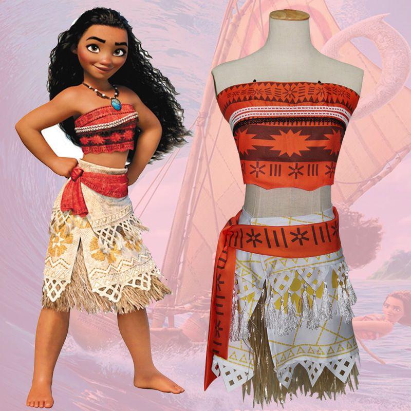 comprando ora qualità del marchio prezzo speciale per Moana Costume Hawaiano Princess Stravagante Cosplay Abito ...