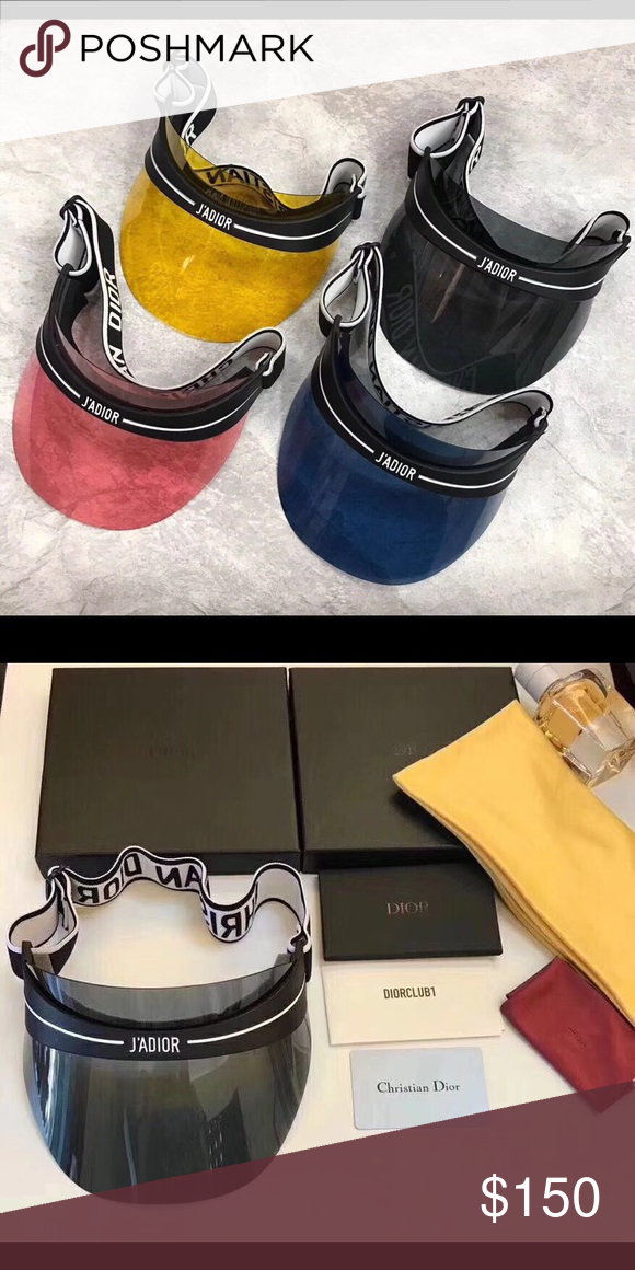 a6f5ae60ec467 Dior sun visor Brand new with original box authenticity card and tags Dior  Accessories Hats