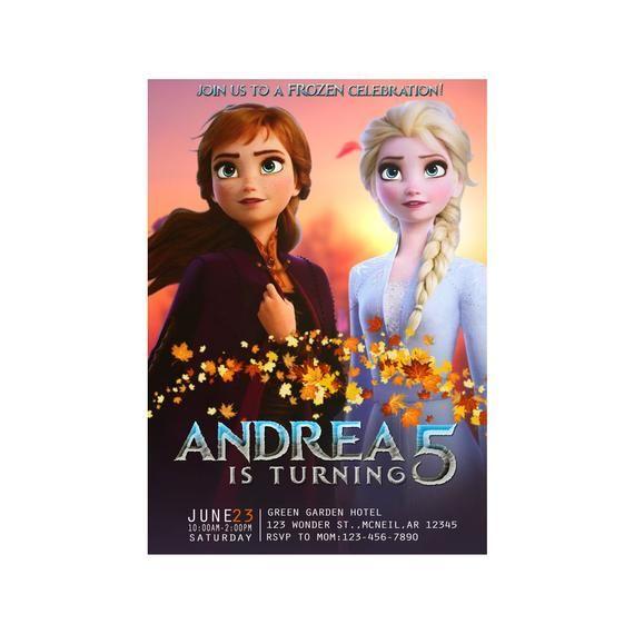 Frozen 2 Birthday Invitation Frozen 2 Birthday Invitation