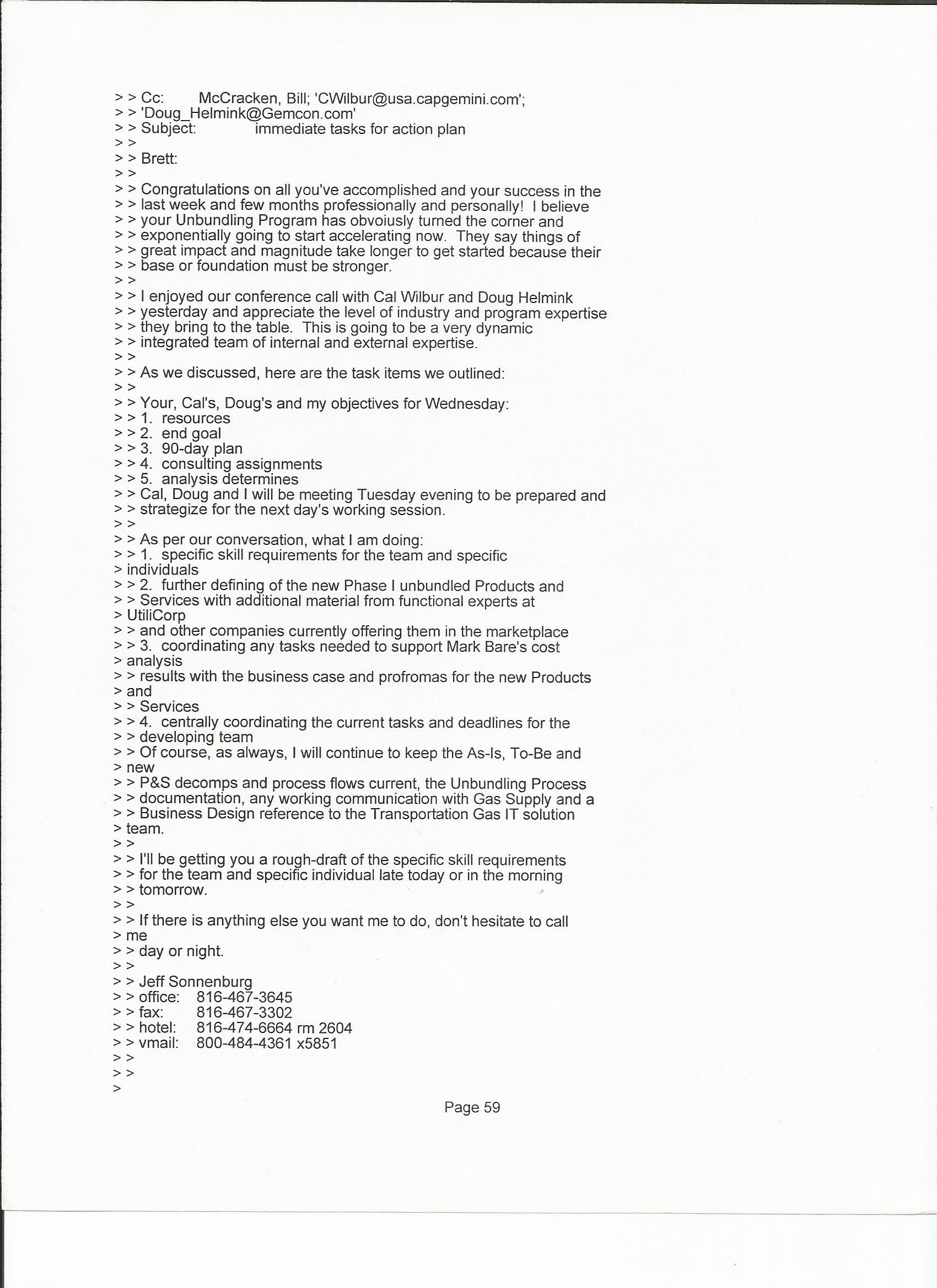 Jeff Sonnenburg results letter of reference from Cap Gemini