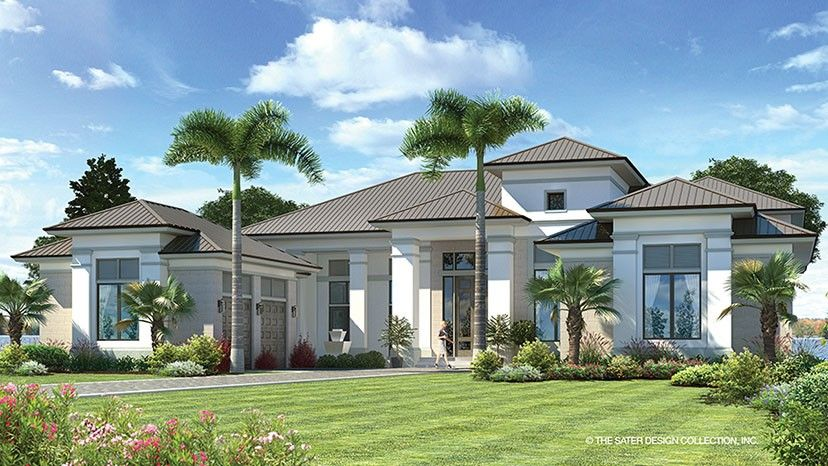Contemporary Style House Plan 5 Beds 5 5 Baths 6136 Sq Ft Plan 930 475 Modern House Plan Luxury House Plans House Plans