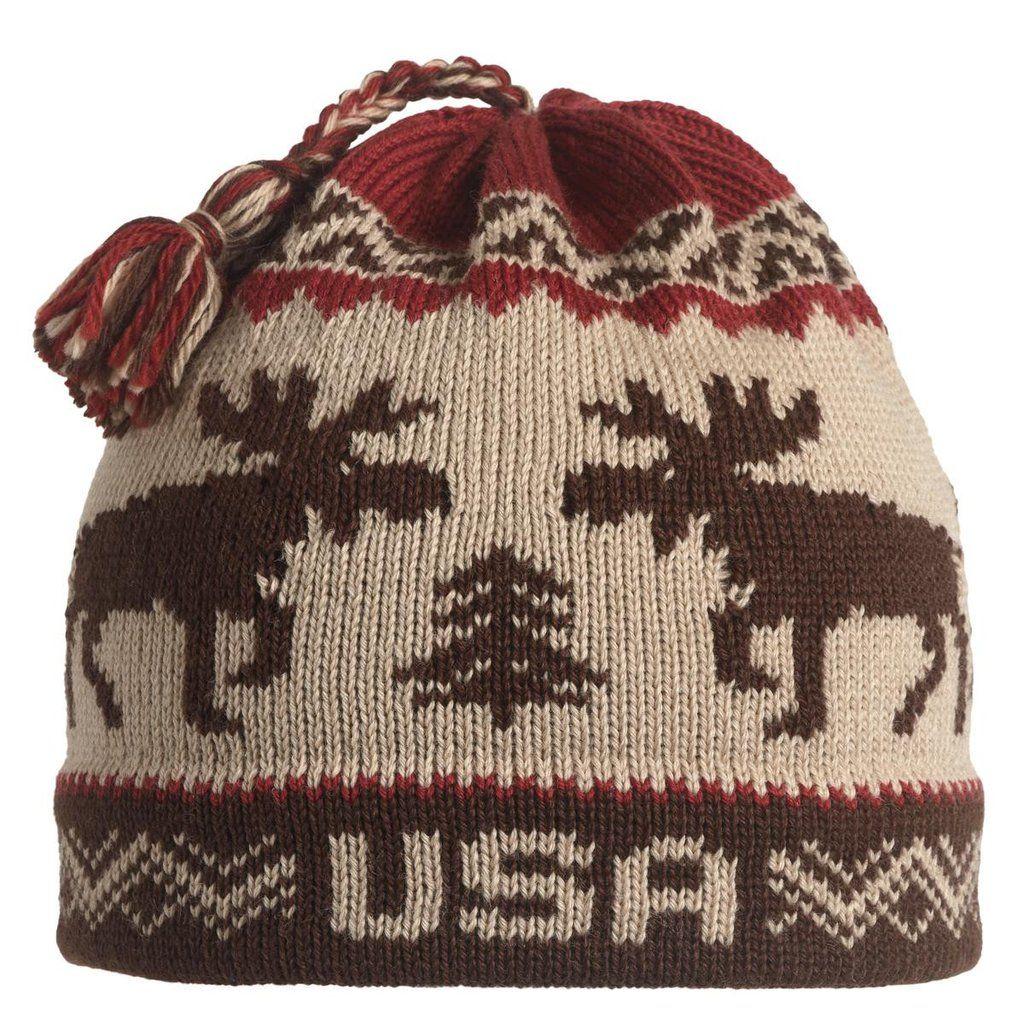0185614a235eb USA Moose Roundtop Tassel Beanie