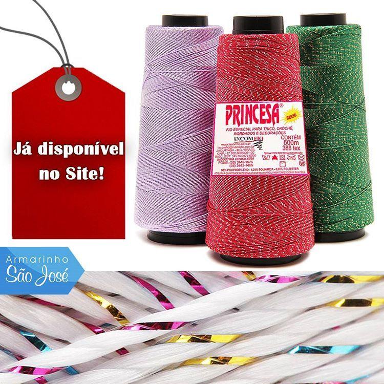 Acabaram de chegar!  Linha Princesa e Princesinha no www.armarinhosaojose.com.br! Conheça os fios que vieram na versão com e sem brilho !  #armarinho #artemanual #artesanato #criatividade #croche #trico #lovecrochet #crocheteira #crochebrasil #saojosearmarinho
