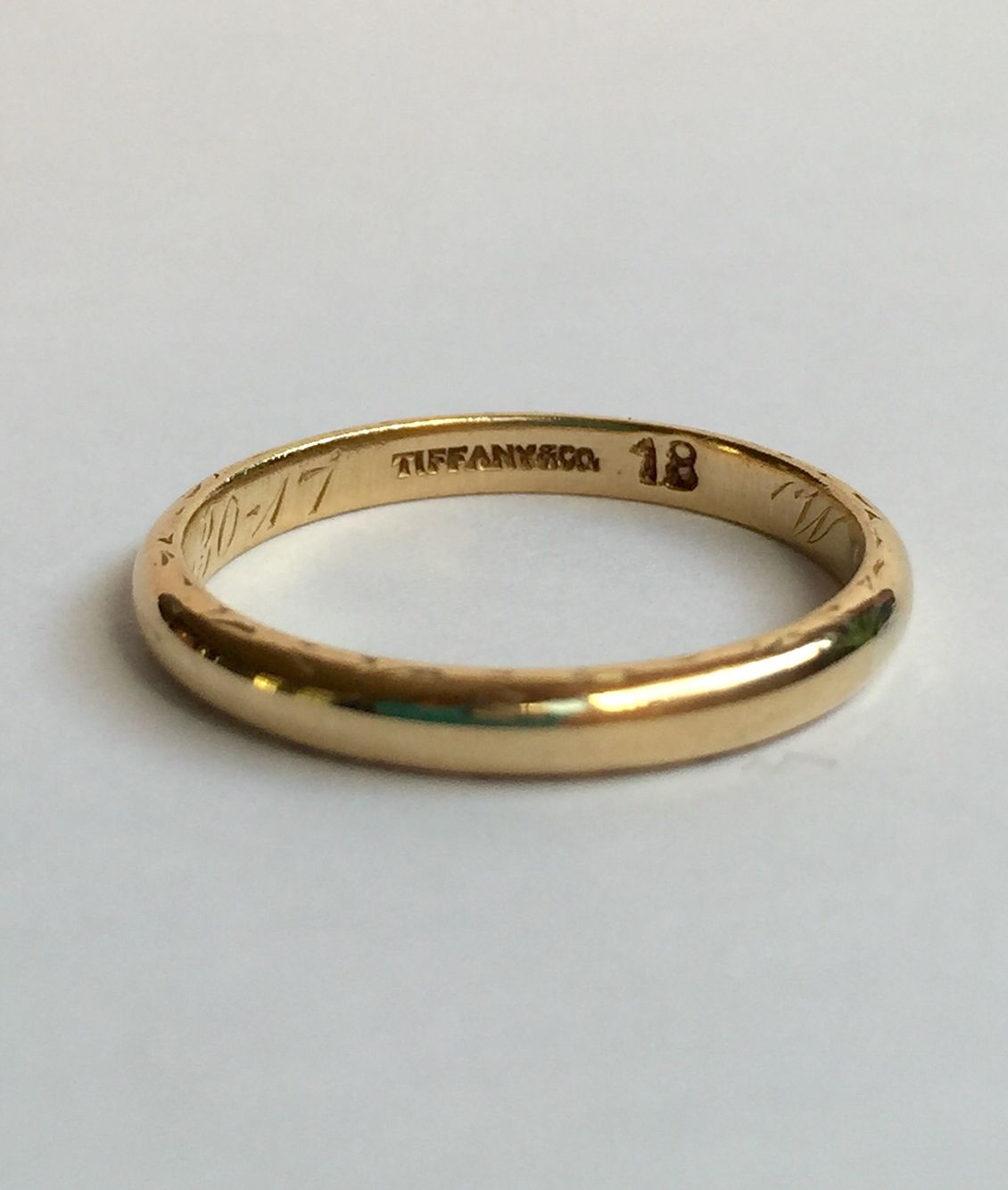 Rare 1917 Tiffany And Co 18k Gold Wedding Band Size 6 Available