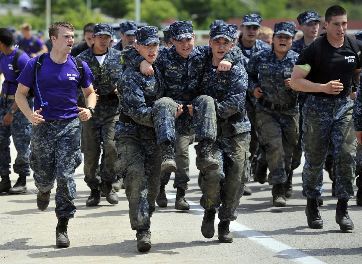 sea trials test naval academy plebes in grueling 14 hour obstacle
