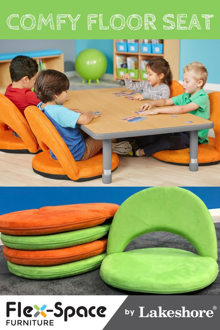 Our Comfy Floor Seat features cushioned back support that ...