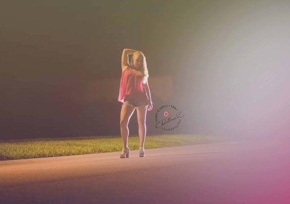 Street Light Night Photography  Christina Z Photography © Orlando, FL