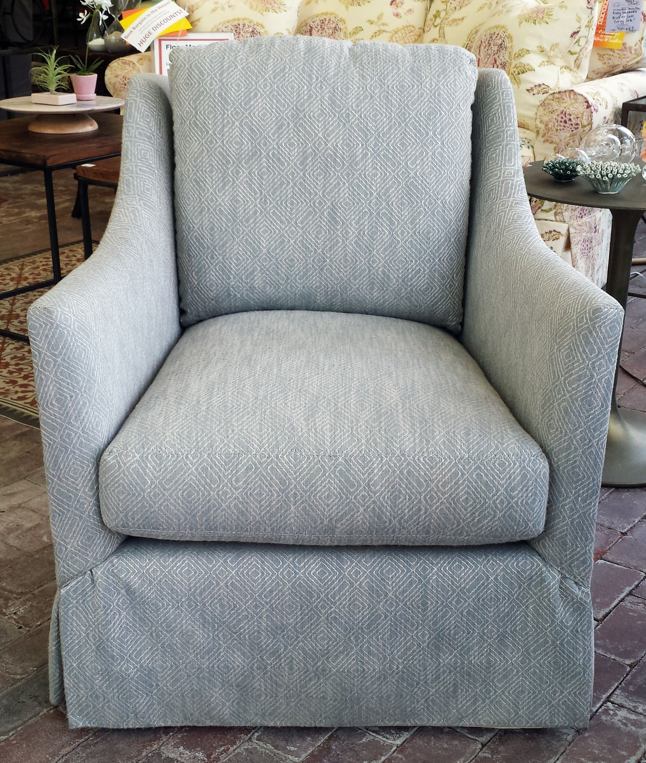 Awesome LEE Industries 3821 01 Swivel Chair In Metric Ocean. This Sweet Little Swivel  Chair
