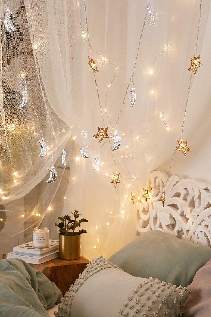 Zimmer string leuchtet ideen copper star string lights  xmas  pinterest  lichterkette