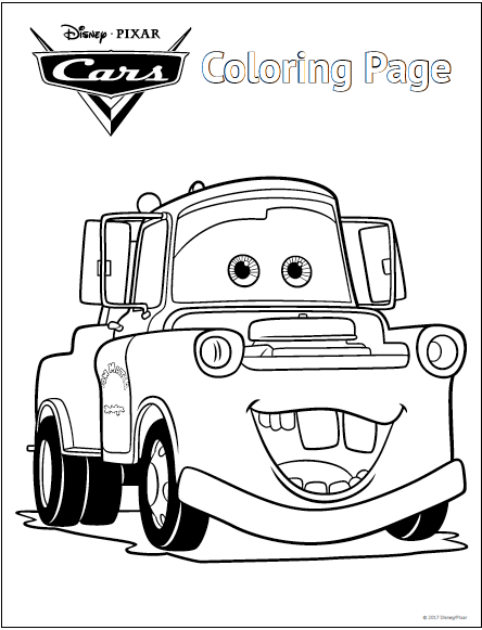 disney cars coloring pages cartoon