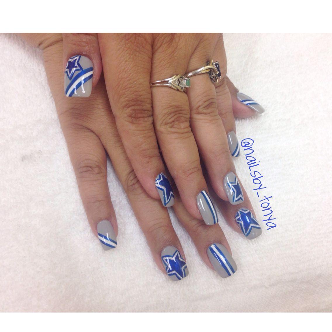 Dallas Cowboys Nail Designs! IG nailsby_tonya nail art for DALLAS ...