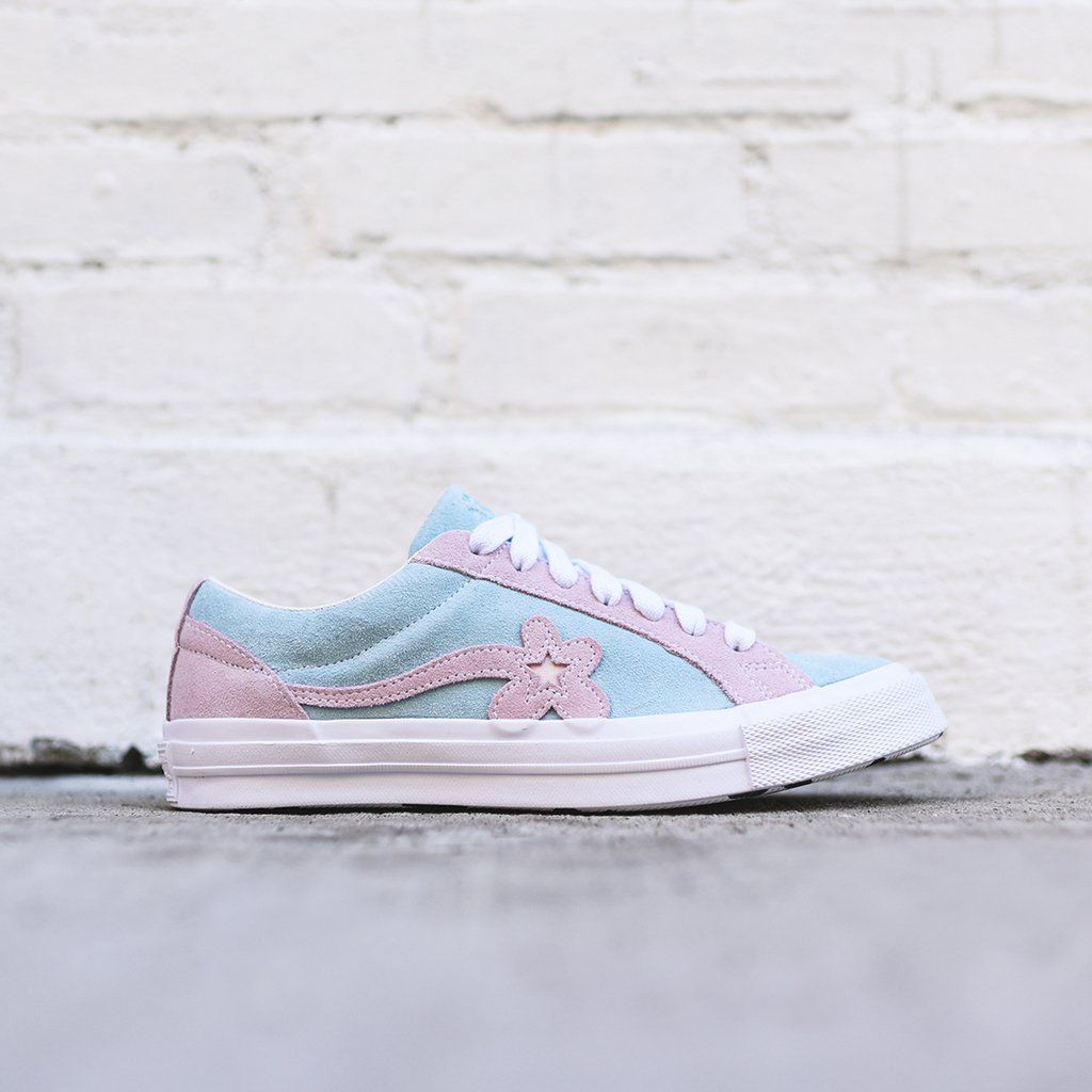 6ad17358df22 Converse x Golf Le Fleur One Star - Plume   Pink Marshmallow   White ...