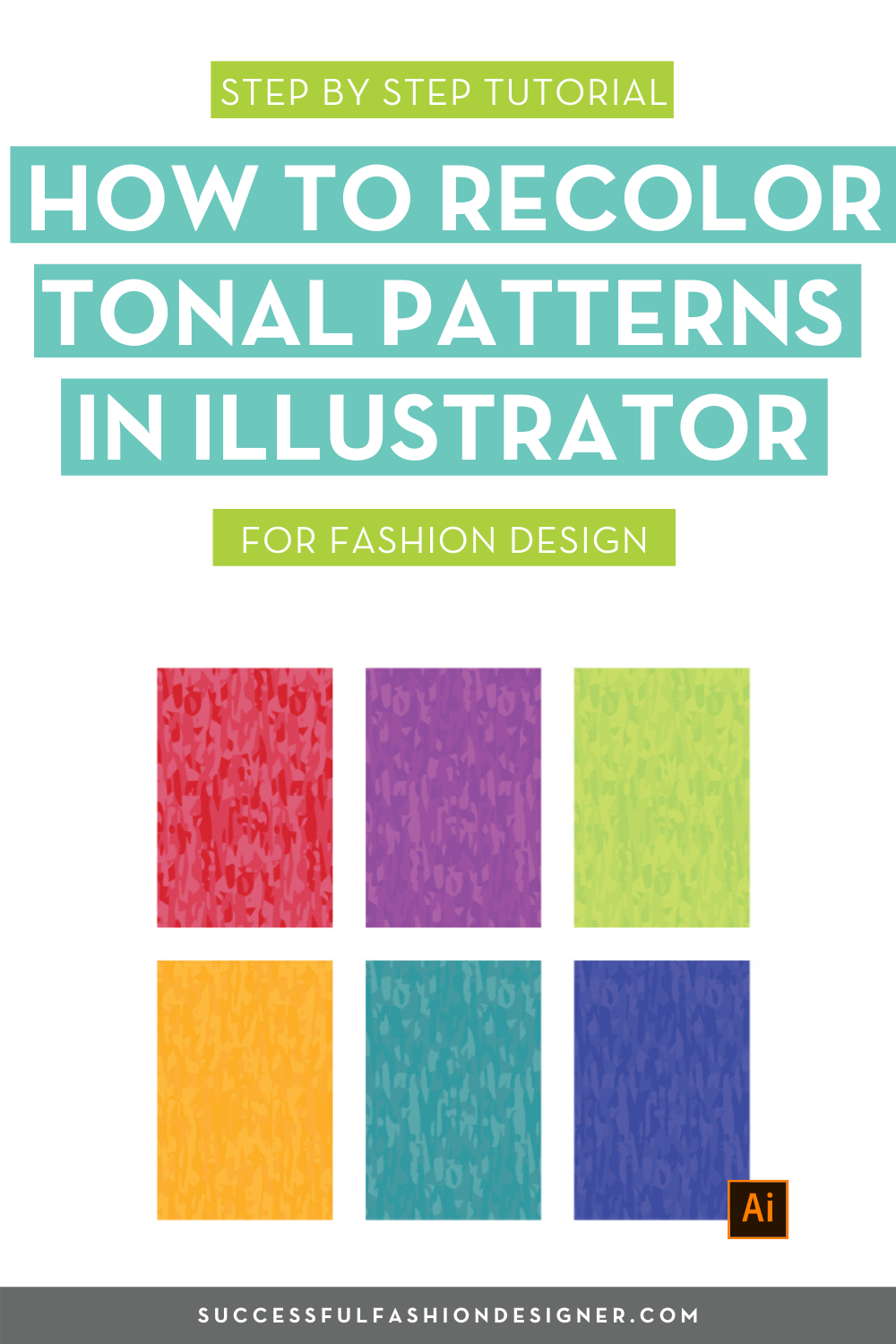 How To Recolor Tonal Patterns In Illustrator The Fastest Trick