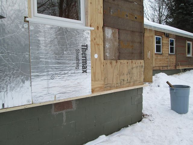 Thermax Installation In Progress Rotten Fiberboard Sheathing Was Replaced By Plywood Deep