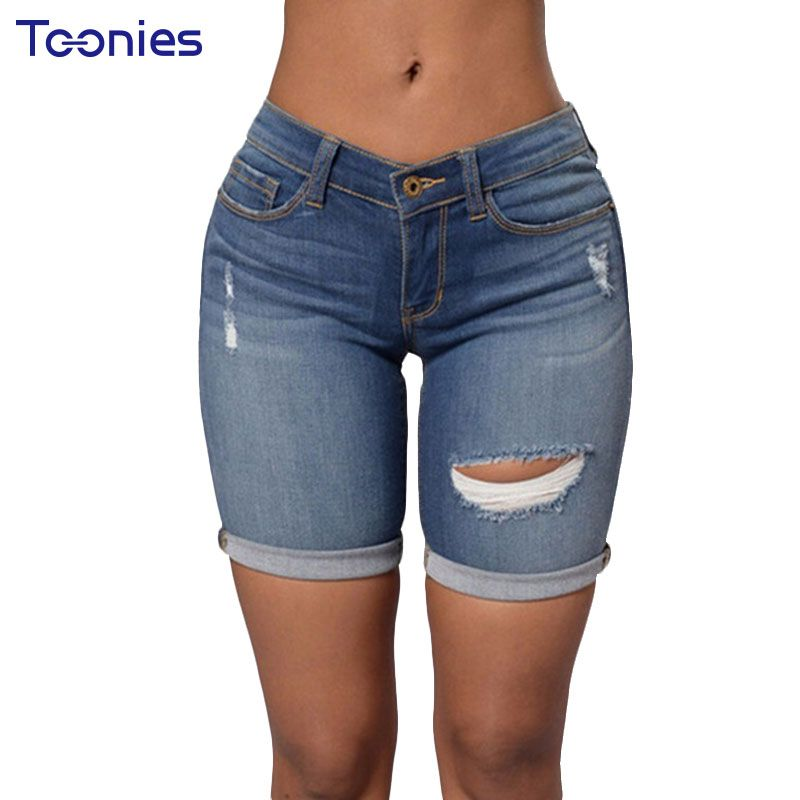 2017 New Spring Summer Europe Jeans Shorts Trend Personality Denim ...