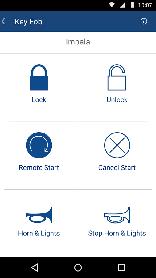 Onstar Remotelink Screenshot Remote Start Unlock Car Door App