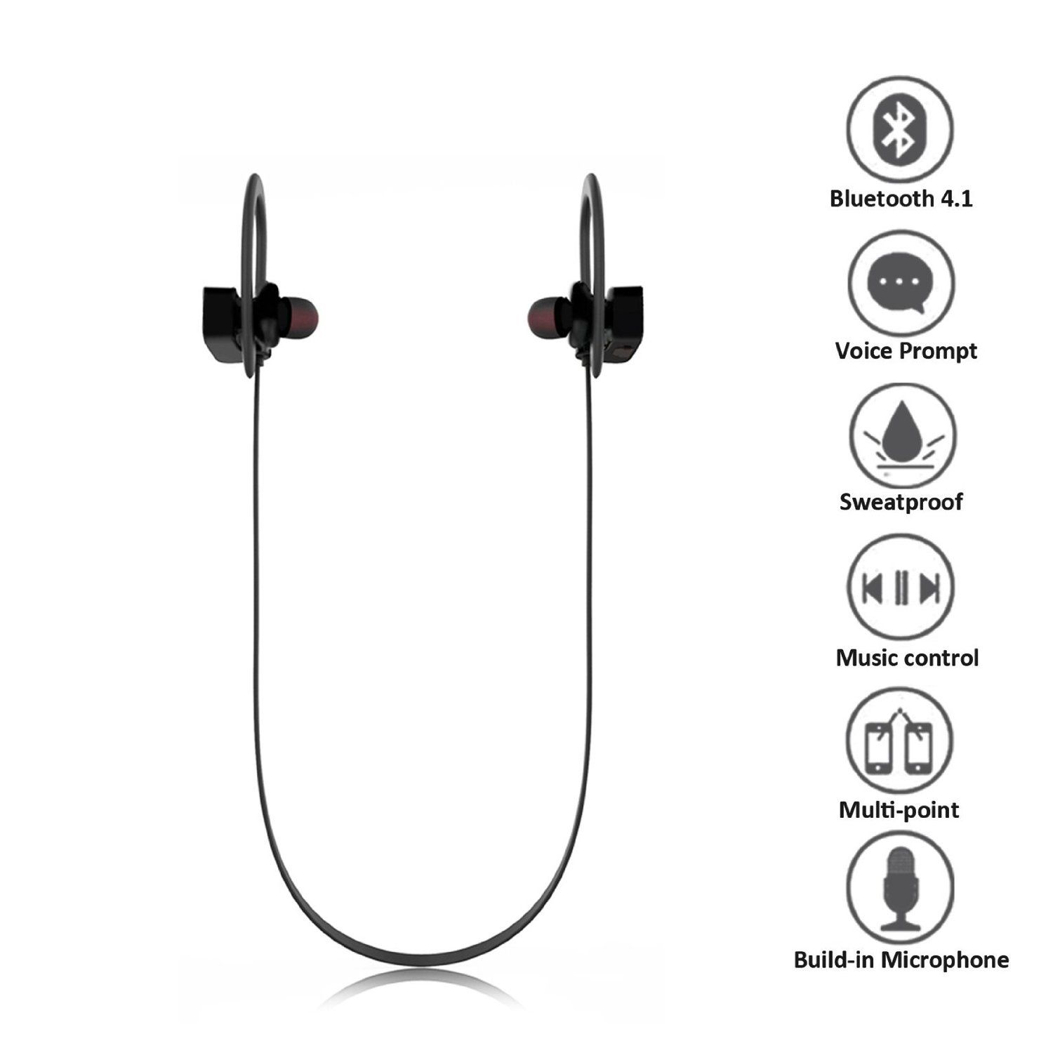 Wireless Bluetooth 4 1 Sports Headphone Yksh Sweatproof